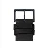 Zwarte gesp en zwarte leren band van  tube D38 horloge van Piet Hein Eek voor LEFF Amsterdam