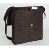 LH58 A4 schoudertas in berber bruin met groot vak en klein vak voor iPhone