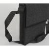 LH58 A4 vilten schoudertas in de kleur antraciet grijs, voor hem of voor haar