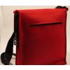 LH58 A4 vilten schoudertas signaal rood: een echt fashion statement