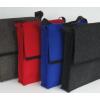 LH58 A4 tassen in Berber bruin, Antraciet grijs, Signaal rood en Kobalt blauw