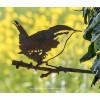 Het winterkoninkje van Metalbird een vogel van metaal cadeau