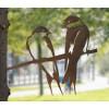 Metalbird metalen duo van zwaluwen - 2 zwaluwen maken al zomer in jouw tuin