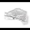 Metrobowl Classic fruitschaal in aluminium; stijlvol design souvenir