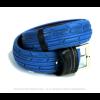 Pants Up riem van oude fietsband blauw geverfd.