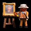 Playmobil Van Gogh zelfportret set met figuurtje en ezel en schilderij - leuk kerstcadeau