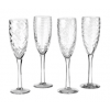 Ieder champagneglas uit deze Pols Potten set van 4 heeft een eigen elegante decoratie
