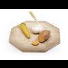 Borrelplank van dik hout in een achthoek ontwerp van Frederijk Roijé