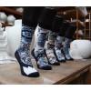 Set van 5 verschillende Delfts blauwe sokken - leuk cadeau voor valentijn