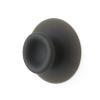 Droog design haken Sucker in de kleur zwart voor badkamer of keuken