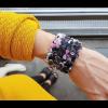 The wide armband Paeonia print scuba suede bij shop.holland.com