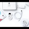 Bijgeleverde User-kit met snoer, stekker,  afstandsbediening en instructieboekje