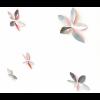 Muurstickers leaves roze