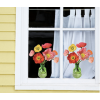 Raamsticker Flat Flowers boeket met klaprozen koop je bij shop.holland.com