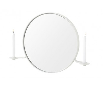 White 101 Candelabra mirror and candle holder
