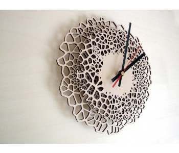 Wooden design wall clock Giraffe medium Asymmetree Anja Verdonk