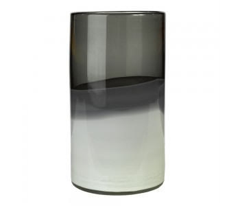 Studio PP vase, grey shades, glass vase, flower vase