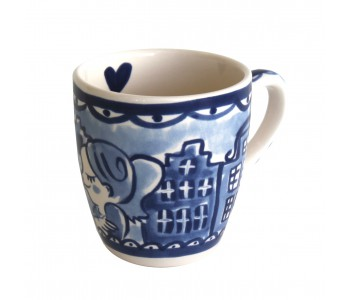 Mini Mug Delft Blond in blue white by Blond Amsterdam