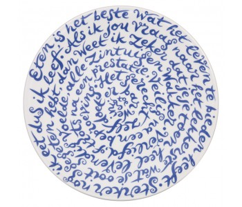 Diskus plate food by Royal Delft Delftware porcelain