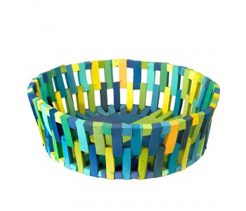 Polspotten basket green, recycled material, flip-flops
