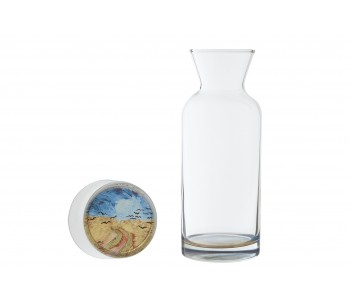 Dutch Designer carafes and glasses Vincent van Gogh Wheatfield with Crows