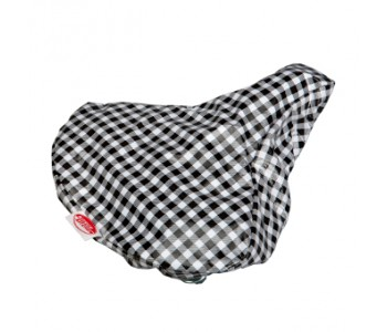 Kitsch Kitchen Saddle Cover - Checkered black-white