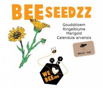 BEEseedzz Marigold Flower Seeds good for Bees