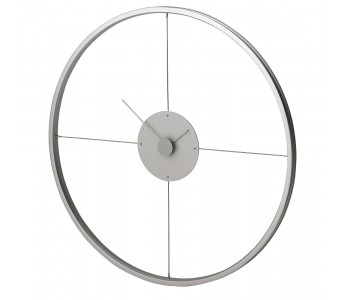 The Bike Wall Clock by Duo Design made from a bicycle wheel