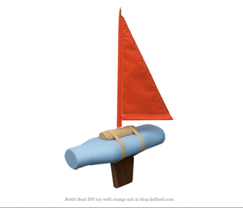 Crafting package Goods toy boat bottle
