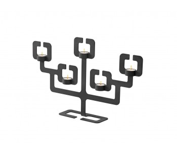 Candleholder Functionals Roderick Vos Bonsai 5 black steel