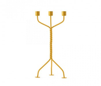 Twisted candlestick in yellow