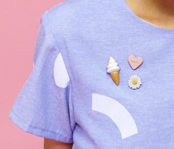 Snoep Pin in roze - fuck van STOOK Sieraden