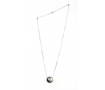 Silver necklace with 925 Sterling Silver chestnut pendant