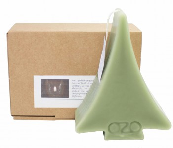 OZO Tri-light ivory colored candles in a three-branched candelabra shape