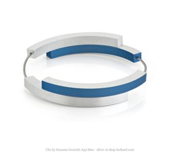 Aluminium armband A32 zilver en blauw van Clic bestellen? Voor 21 u besteld, morgen in huis. Bezoek snel onze webshop voor meer Dutch design sieraden!