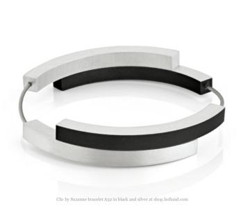 Clic by Suzanne armband A32Z in zilver en zwart vind je bij shop.holland.com