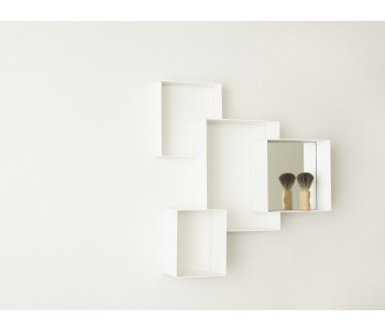 Wall furniture white Cloud Cabinet white Studio Frederik Roijé wall element