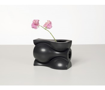 Black Continued Vase for flowers from Slim Ben Ameur