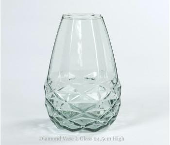 Diamond Vase L Fair trade original white facet