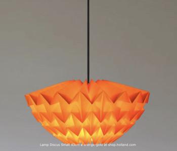 Discus S Hanglamp Oranje-Geel van Daniëlle Origami bestel je bij shop.holland.com