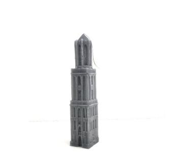 Kaars Domtoren Utrecht - 22 cm antraciet koop je bij shop.holland.com