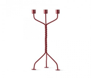 Twisted candlestick in red