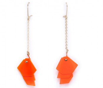 Facets 2.20 Oorbellen van Turina Sieraden - typisch Nederlands oranje