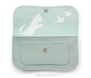 Cat Chase Wallet Medium from Keecie in Dusty Green
