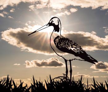 Metalbird metal bird Kingfisher for the garden
