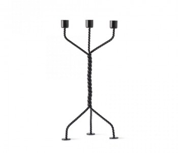 Twisted candlestick in black
