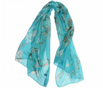 Designer scarf 100% silk Vincent van Gogh Museum Amsterdam