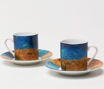 Vincent and Theo Van Gogh porcelain coffee cup irises