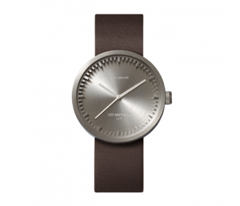 Great gift idea: Piet Hein Eek watch Tube D38 with stainless steel case and brown leather strap