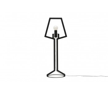 Gispen Outline table-lamp large from black steel by Peter van de Water
